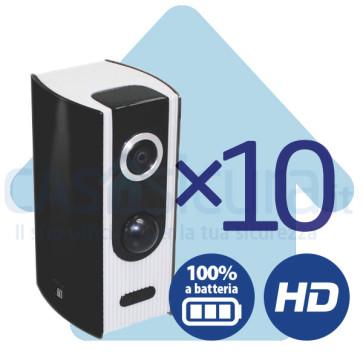 Bundle 10 pezzi - Telecamera IP 100% ***SENZA FILI*** A BATTERIA