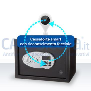 Cassaforte smart con telecamera a riconoscimento facciale