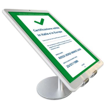 """Tablet lettura Green Pass 8"""" con APP ufficiale VerificaC19 installata pronto all'uso"""