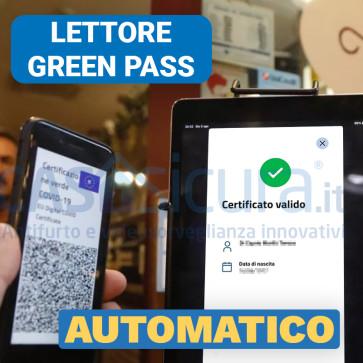 Lettore greenpass automatico, controllo  green pass, verifica certificazione verde wifi 4g