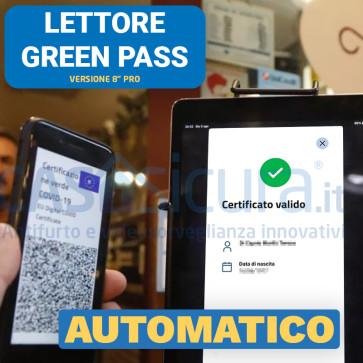 """Lettore greenpass automatico, controllo  green pass, verifica certificazione verde wifi 4g VERSIONE TOP TABLET 8"""" PRO"""