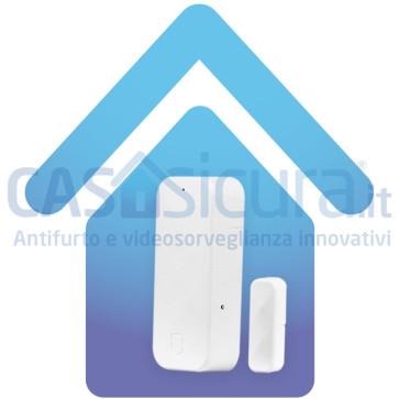 """Sensore contatto magnetico porta finestra BIANCO con tecnologia """"anti-inganno"""" - SUPERSLIM - Infinity"""