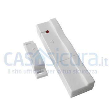 Sensore contatto magnetico porta finestra BIANCO formato SLIM