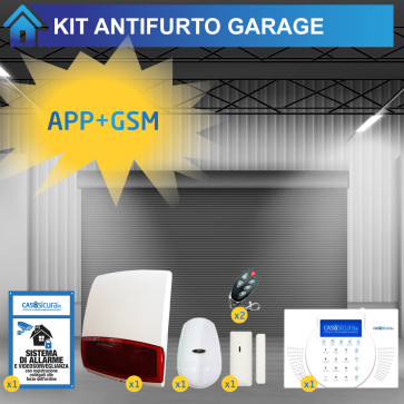 Antifurto garage GSM comunicazione senza fili, ideale per box e cantina