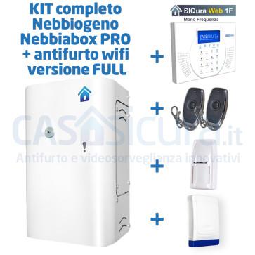 Kit completo: nebbiogeno Nebbiabox PRO + antifurto wifi versione FULL