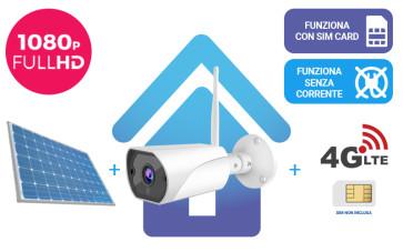 KIT: Telecamera da esterno + router 4G + alimentazione solare, tutto senza fili