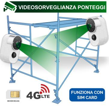 Videosorveglianza ponteggi con telecamere a batteria e connessione 4G