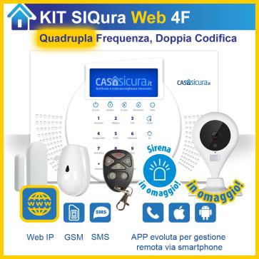 KIT Siqura Web, centrale QUADRUPLA Frequenza, Internet + GSM