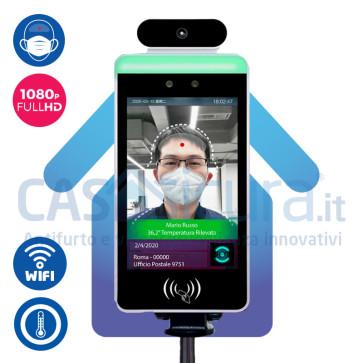 Telecamera termica termoscanner con stazione monitoraggio - Rilevazione della mascherina