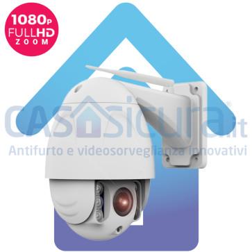 Telecamera IP senza fili da esterno 360° con risoluzione Full HD 8.0 versione Zoom ottico 4X