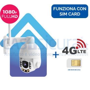 Telecamera IP 4G senza fili da esterno 360° con risoluzione HD 8.0 con router - Funziona con SIM e wifi