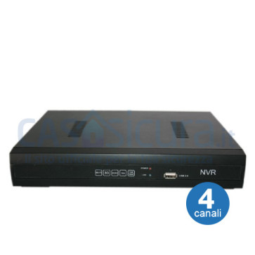 Videoregistratore alta compressione e qualità - NVR 4 canali