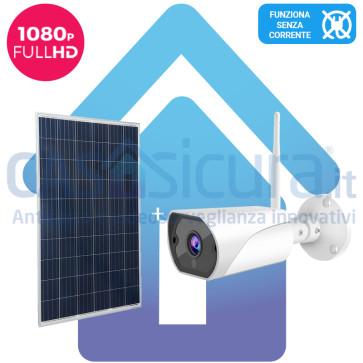 KIT: Telecamera da esterno + alimentazione solare, tutto senza fili