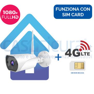 Telecamera IP 4G senza fili da esterno FULL HD 8.0 con router - Funziona con SIM e wifi