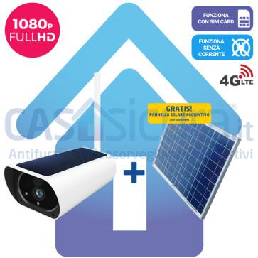 Telecamera IP 4G senza fili da esterno con pannello solare e router integrati - Funziona con SIM e senza corrente