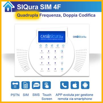 Centralina SIQura QUADRUPLA frequenza per linea fissa + SIM + SMS