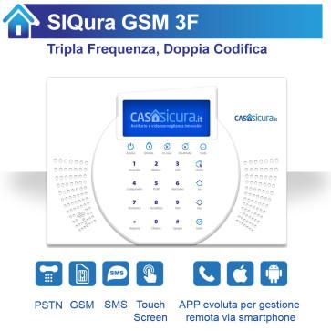 Centralina SIQura TRIPLA frequenza per linea fissa + SIM + SMS