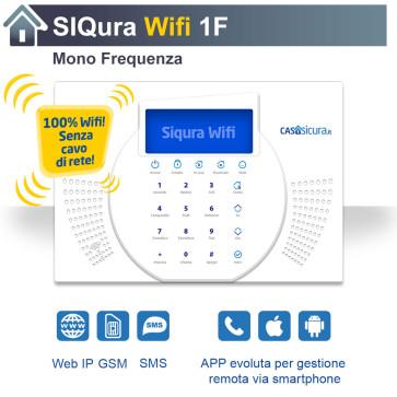 Centralina Siqura Wifi (senza cavo di rete), centrale Mono Frequenza, Internet + GSM