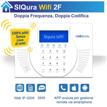 Centralina Siqura Wifi (senza cavo di rete), centrale Doppia Frequenza, Internet + GSM