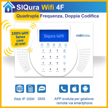Centralina Siqura Wifi (senza cavo di rete), centrale QUADRUPLA Frequenza, Internet + GSM