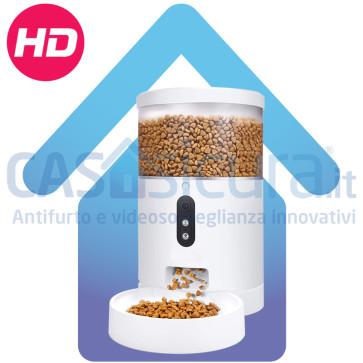 Dispenser / Mangiatoia / Ciotola smart per cani e gatti, gestibile da remoto con TELECAMERA ad alta risoluzione ed audio bidirezionale