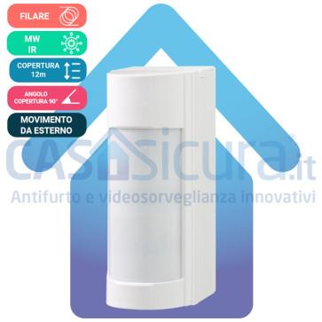 Sensore da esterno multidimensionale PIR+microonda, antimascheramento FILARE