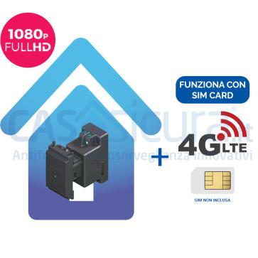 Telecamera incasso 503 Microcamera spia WIFI FULL HD UNIVERSALE interno / esterno con audio IR invisibile (versione con router 4G)