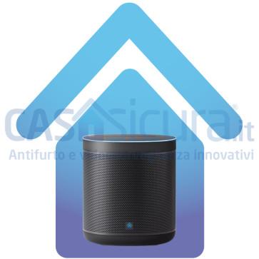 Altoparlante smart speaker intelligente con comando vocale ed assistente vocale, gestione allarme e domotica