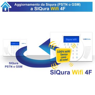 Aggiornamento da Siqura (pstn o gsm) a Siqura Wifi 4F