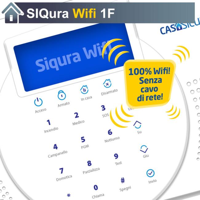 Centralina siqura wifi senza cavo di rete centrale mono - App casasicura ...