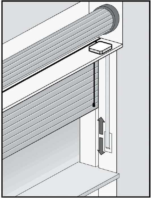 Sensore tapparelle a cordino senza fili con tecnologia - Sensori per finestre senza fili ...