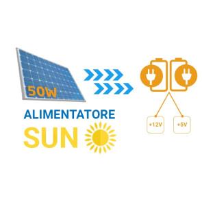 Alimentatore solare: alimenta dispositivi sfruttando l'energia solare con batteria fino a 24 ore su 24 versione potenziata