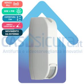 Sensore Perimetrale a Tenda da Esterno ALL-Technologies, Sei tecnologie, Completamente Senza Filo - Infinity