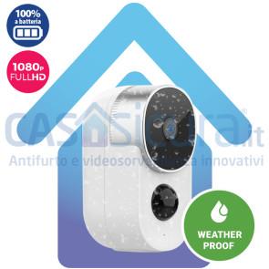 Telecamera IP A BATTERIA 100% ***SENZA FILI*** versione da esterno Full HD Fototrappola - BATCAM OUT