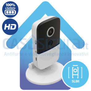 Telecamera IP A BATTERIA 100% versione compatta ***SENZA FILI*** - BATCAM-SLIM