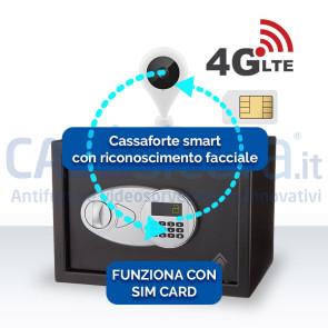 Cassaforte smart con riconoscimento facciale 4G - Funziona con SIM