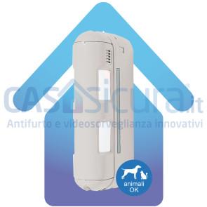 Sensore movimento Doppio PIR a barriera da esterno SENZA FILI