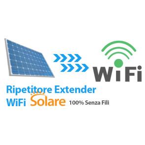 Wifi extender/repeater solare: internet wifi senza corrente elettrica, 24 ore su 24, 365 giorni l'anno