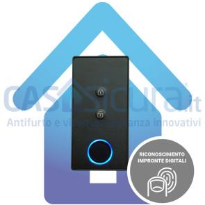 Lettore impronte digitali, dispositivo biometrico per antifurto senza fili 100% senza fili