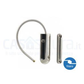 Sensore filare porta/finestra specifico per porte blindate, basculanti, ferro, metallo