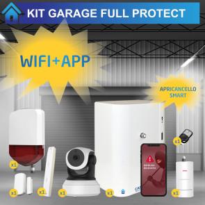 Sistema smart avanzato per garage: nebbiogeno, sirena, domotica, videosorveglianza, allarme perimetrale ed interno, gestibile da app