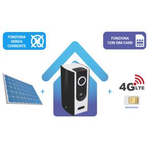 KIT: Telecamera IP 100% senza fili a BATTERIA  + router 4G + alimentazione solare, tutto senza fili