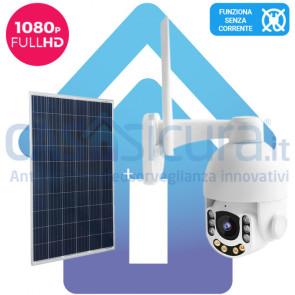 KIT: Telecamera da esterno 360° con risoluzione Full HD 8.0 versione PRO + alimentazione solare, tutto senza fili