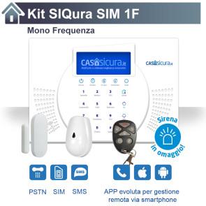 KIT Siqura, Mono Frequenza, SIM + PSTN + SMS + APP