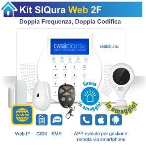 KIT Siqura Web, centrale Doppia Frequenza, Internet + GSM
