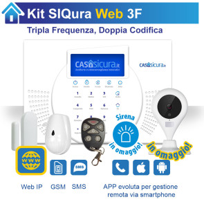 KIT Siqura Web, centrale Tripla Frequenza, Internet + GSM