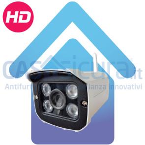 Telecamera IP Wifi da esterno HD con supporto SD card e superilluminazione led