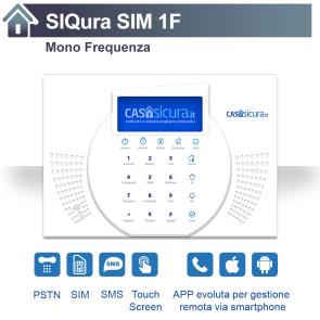 Centralina SIQura per linea fissa + SIM + SMS
