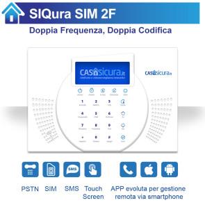 Centralina SIQura Doppia Frequenza e Doppia Codifica per linea fissa + SIM + SMS