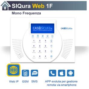 Centralina Siqura Web, centrale Mono Frequenza, Internet + GSM